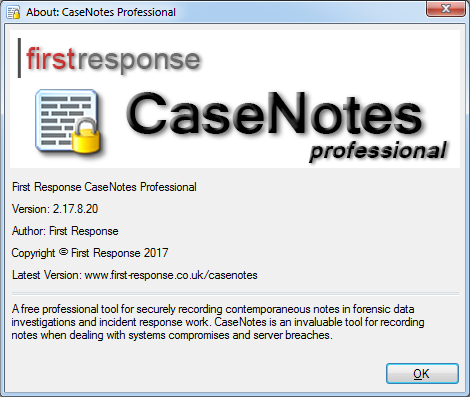 Casenotes First Response